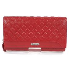 SLM GIULTIERI kocka nyomatos, piros nagy két oldalas pénztárca SUN108