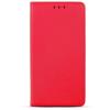 Smart magnet Huawei Y6 (2018) oldalra nyíló mágneses könyv tok szilikon belsővel piros