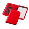 Smarti számológépes jegyzetfüzet, műbőr, piros