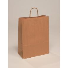 Sodrottfüles papírtáska,400x160x450 mm,barna