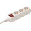 SOMOGYI AUDIO LINE Hálózati elosztó kapcsolós 3 aljzat 5m fehér NV 03K-5/W