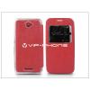 Sony Sony Xperia E4 (E2104/E2105) S-View Flexi oldalra nyíló flipes tok - piros