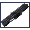 Sony VAIO VGN-CS11S/P 4400 mAh 6 cella fekete notebook/laptop akku/akkumulátor utángyártott