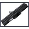 Sony VAIO VGN-CS13H/W 4400 mAh 6 cella fekete notebook/laptop akku/akkumulátor utángyártott