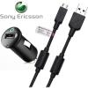 SonyEricsson autóstöltő USB kimenetre + micro USB
