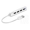 Speedlink Snappy Slim 4-port USB 2.0 HUB (passzív, fehér)