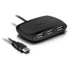 """Speedlink USB elosztó-HUB, 4 port, USB 2.0, passzív,  """"Snappy"""", fekete"""