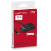 Speedlink USB elosztó-HUB, 4 port USB 3.0, USB-C csatlakozás, passzív, SPEEDLINK