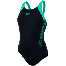 Speedo Boom Splice Muscleback Black/Fake Green 36