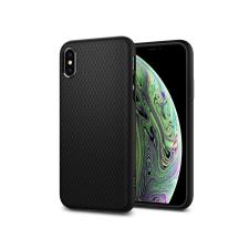 Spigen Apple iPhone X/XS ütésálló hátlap - Spigen Liquid Air - fekete tok és táska