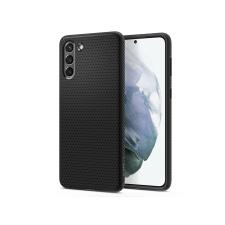 Spigen Samsung G990F Galaxy S21 ütésálló hátlap - Spigen Liquid Air - fekete tok és táska