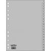 Spoko Regiszter műanyag szürke A4 1-20 25db/csom