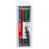 """STABILO Alkoholos marker készlet, 0,4 mm, STABILO \""""OHPen S\"""", 4 különböző szín [4 db]"""