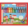 """STABILO Filctoll készlet, 1,5-2 mm, rugós hegy, STABILO """"Trio Scribbi"""", 14 különböző szín"""