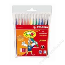"""STABILO Filctoll készlet, 2 mm, STABILO """"Power"""", 12 különböző szín filctoll, marker"""