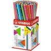 """STABILO Grafitceruza display, 2B, háromszögletű, STABILO """"Trio"""""""