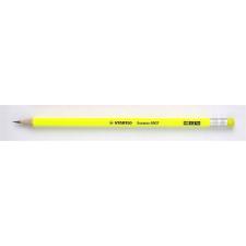 "STABILO Grafitceruza radírral, HB, hatszögletű, STABILO ""Swano Neon"", sárga ceruza"