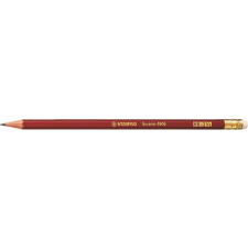 STABILO Grafitceruza STABILO Swano 4906 HB hatszögletű radíros piros ceruza