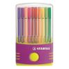 """STABILO Rostirón készlet, 1 mm, műanyag lila tok,  """"Pen 68 ColorParade"""", 20 különböző szín"""