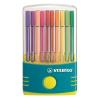 """STABILO Rostirón készlet, 1 mm, műanyag türkiz tok,  """"Pen 68 ColorParade"""", 20 különböző szín"""