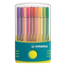 """STABILO Rostirón készlet, 1 mm, műanyag türkiz tok,  """"Pen 68 ColorParade"""", 20 különböző szín filctoll, marker"""