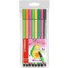 """STABILO Rostirón készlet, 1 mm,  """"Pen 68 Living Colors"""", Avokádó, 8 különböző szín"""