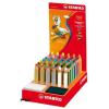 """STABILO Színes ceruza display, kerek, vastag, STABILO """"Woody"""", vegyes"""