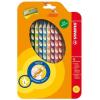 """STABILO Színes ceruza készlet, háromszögletű, balkezes, STABILO """"EasyColours"""", 12 szín (TST33112)"""