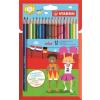 STABILO Színes ceruza készlet, hatszögletű, STABILO Color, 18 különböző szín (TST191877)