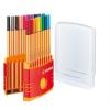 """STABILO Tűfilc készlet, 0,4 mm, STABILO """"Point 88 ColorParade"""", 20 különböző szín"""