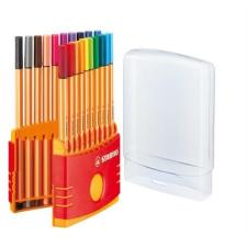 """STABILO Tűfilc készlet, 0,4 mm, STABILO """"Point 88 ColorParade"""", 20 különböző szín filctoll, marker"""