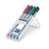 """STAEDTLER Alkoholmentes marker készlet, OHP, 1 mm, STAEDTLER """"Lumocolor 315 M"""", 4 különböző szín"""