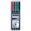 """STAEDTLER Alkoholos marker, 0,6 mm, """"318"""", 4 különböző szín"""