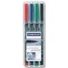 STAEDTLER Alkoholos marker készlet, OHP, 0,4 mm, STAEDTLER 313 S, 4 különböző szín (TS313WP4)