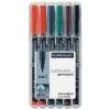 """STAEDTLER Alkoholos marker készlet, OHP, 0,4 mm, STAEDTLER \""""Lumocolor 313 S\"""", 6 különböző szín [6 db]"""