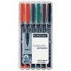 """STAEDTLER Alkoholos marker készlet, OHP, 0,4 mm, STAEDTLER """"Lumocolor 313 S"""", 6 különböző szín"""
