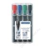 STAEDTLER Alkoholos marker készlet, vágott, STAEDTLER Lumocolor 350, 4 különböző szín (TS350WP4)
