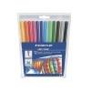 STAEDTLER Filctoll készlet, 1 mm, kimosható, STAEDTLER Noris Club, 12 különböző szín