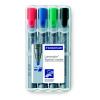 """STAEDTLER Flipchart marker készlet, 2-5 mm, vágott,  """"Lumocolor 356 B"""", 4 különböző szín"""