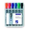 """STAEDTLER Flipchart marker készlet, 2 mm, kúpos, STAEDTLER \""""Lumocolor 356\"""", 6 különböző szín [6 db]"""