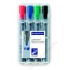 STAEDTLER Flipchart marker készlet, vágott, STAEDTLER Lumocolor 356 B, 4 különböző szín (TS356BWP4)