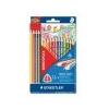 STAEDTLER Színes ceruza készlet, háromszögletû, STAEDTLER Noris Club, 12+4 szín