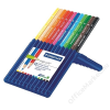 STAEDTLER Színes ceruza készlet, háromszögletű, STAEDTLER Ergo Soft STAEDTLER Box, 12 különböző szín (TS157SB12)