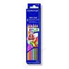 STAEDTLER Színes ceruza készlet, háromszögletű, STAEDTLER Noris Club, 6 különböző szín (TS127NC6)