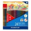 """STAEDTLER Színes ceruza készlet, hatszögletű, STAEDTLER \""""Noris Colour\"""", 20+4 különböző szín [24 db]"""