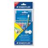 STAEDTLER Színes ceruza NC jumbo 12db+1 stylus grafit c. kék-61 SET28- STAEDTLER