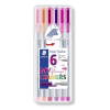"STAEDTLER Tűfilc készlet, 0,3 mm,  ""Triplus Flamingo"", 6 flamingo szín"