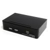 Startech 2 portos USB2.0 KVM switch + Audio and USB 2.0 Hub