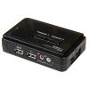 Startech 2 portos USB2.0 KVM switch with Audio