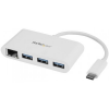 Startech 3-Port USB 3.0 Hub plus Gigabit Ethernet - USB-C fehér